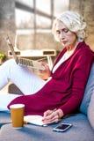 Woman using laptop Royalty Free Stock Image