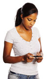 Woman using a mobile Royalty Free Stock Image