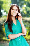 Woman using mobile Royalty Free Stock Photo