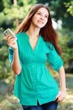 Woman using mobile Stock Photos