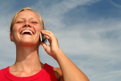 Woman using a mobile phone Royalty Free Stock Photography