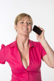 Woman using a mobile phone Royalty Free Stock Photos
