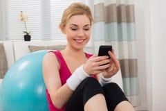 Woman Using Mobile Phone Stock Image