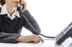 Woman using a phone Royalty Free Stock Photo