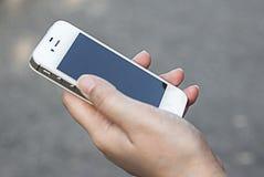 Woman Using  Smart Phone Royalty Free Stock Photos