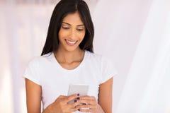 Woman using smart phone Royalty Free Stock Photo
