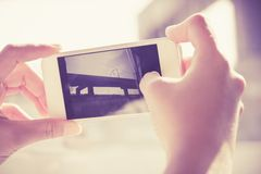 Woman Using a Smart Phone Stock Images