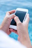 Woman Using a Smart Phone Royalty Free Stock Photo