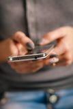 Woman Using a Smart Phone Stock Photo