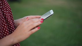 Woman Using a Smart Phone stock video footage