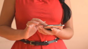 Woman using smartphone. stock video footage