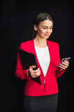 Woman using smartphone Royalty Free Stock Images