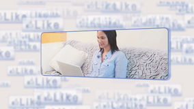 Woman using social media stock footage