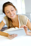 Woman using tablet Royalty Free Stock Photography