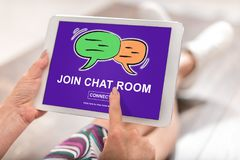 Chat room concept on a tablet Royalty Free Stock Image