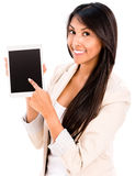 Woman using a tablet computer Royalty Free Stock Photography
