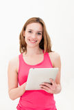 Woman using tablet PC Stock Photos