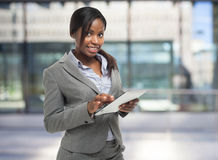 Woman using a tablet Royalty Free Stock Photography
