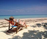 Woman on Vacation Royalty Free Stock Photos
