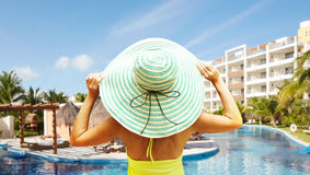 Woman on vacation. Royalty Free Stock Images