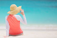 Woman at vacation Stock Image