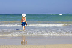 Woman in vacation Royalty Free Stock Images