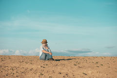 Woman on vacation outdoor Royalty Free Stock Photography