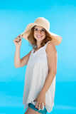 Woman on vacation stock photos