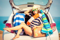 Woman on vacation Royalty Free Stock Images