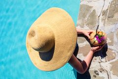 Woman on vacation Stock Images