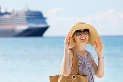 Woman at vacation Stock Photo
