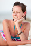Woman on vacations Royalty Free Stock Photography