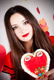 Woman on Valentine's day Stock Photography