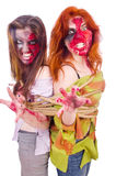 Woman vampire Stock Images