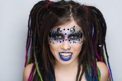 Woman vampire make up Royalty Free Stock Images