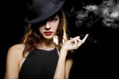 Woman Vaping Smoking Alternative Stock Photo