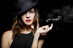 Woman Vaping Smoking Alternative Royalty Free Stock Photo