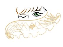 Minimal warm scarf abstract woman color royalty free illustration