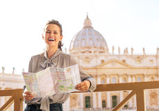 Woman  in Vatican city state Stock Photo