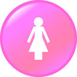 Woman vector button Stock Photography