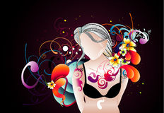 Woman vector composition Royalty Free Stock Image