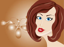 Woman.Vector illustration. Royalty Free Stock Photo