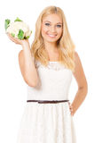 Woman with vegetable Royalty Free Stock Images