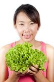 Woman with vegetables Stock Photography