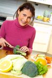 Woman with vegetables. Yong woman with fresh vegetables Stock Images