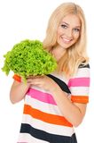 Woman with vegetables Stock Image