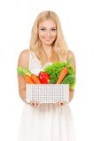 Woman with vegetables Royalty Free Stock Photo