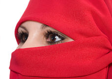 Woman with veil Stock Photos