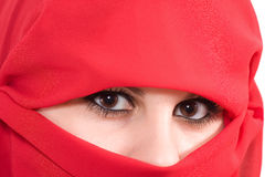 Woman with veil Royalty Free Stock Photography