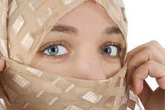Woman with veil Stock Image